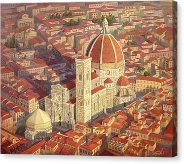 Architectural Landscape Canvas Print - Santa Maria Del Fiore by Meruzhan Khachatryan