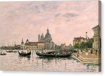 Santa Maria Della Salute And The Dogana Canvas Print by Eugene Louis Boudin