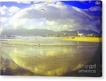 Santa Monica Beach Canvas Print by Jerome Stumphauzer