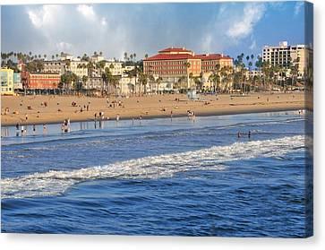 Santa Monica Beach View  Canvas Print by Lynn Bauer