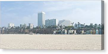 Santa Monica Beach With Buildings Canvas Print by Panoramic Images