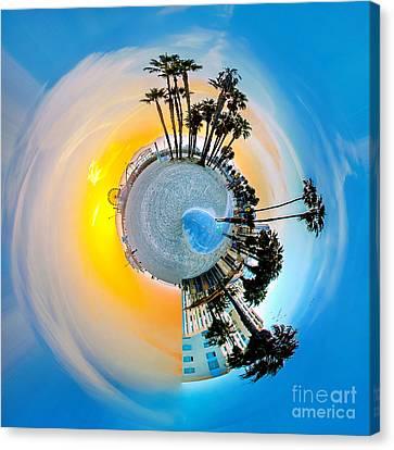 Santa Monica Pier Circagraph Canvas Print by Az Jackson