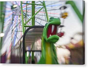 Roar Green Dragon Ride Canvas Print by Scott Campbell