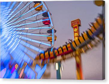 Now I Know It Was A Dream Santa Monica Ferris Wheel Canvas Print by Scott Campbell