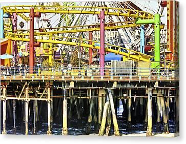 Santa Monica Pier Over And Under Canvas Print