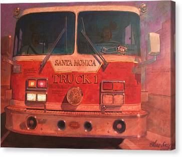 Santa Monica Truck One Canvas Print by Blue Sky