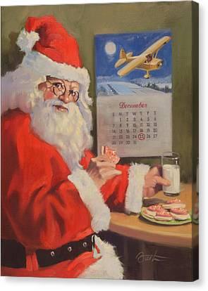 Santa Nan 2 Canvas Print by Todd Baxter
