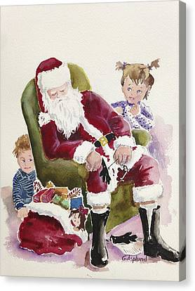 Waiting Up For Santa Canvas Print