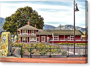 Santa Paula Train Station Canvas Print by Jason Abando