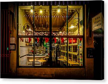 Santa-ready Pike Place Chowder After Closing Canvas Print by Brian Xavier