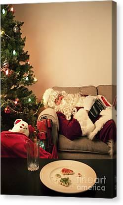Santa Takes A Nap Canvas Print