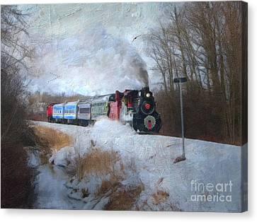 Santa Train - Waterloo Central Railway No Text Canvas Print by Lianne Schneider