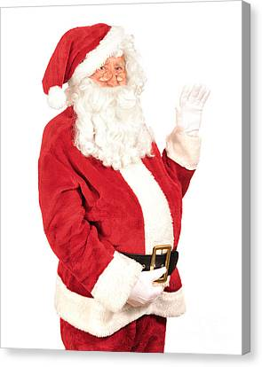 Father Christmas Canvas Print - Santa Waving by Amanda Elwell
