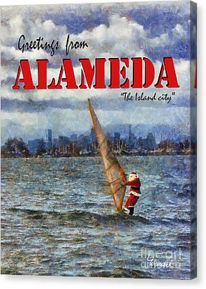 Alameda Santa's Greetings Canvas Print