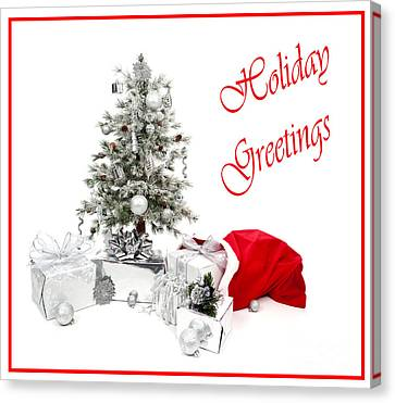 Silver-filled Canvas Print - Santas Bag by Jan Tyler