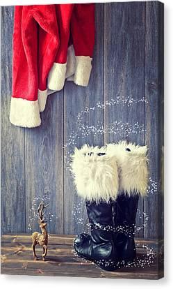 Santa's Boots Canvas Print by Amanda Elwell