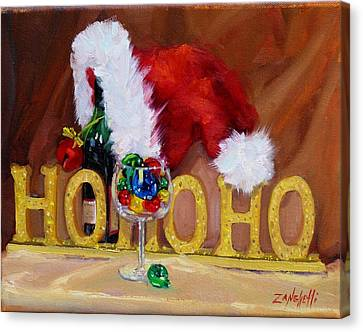 Santas Cheer Canvas Print by Laura Lee Zanghetti