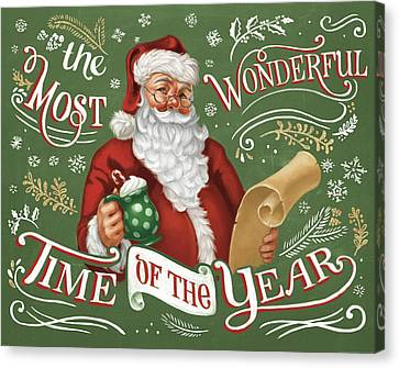 Santas List II Canvas Print by Janelle Penner