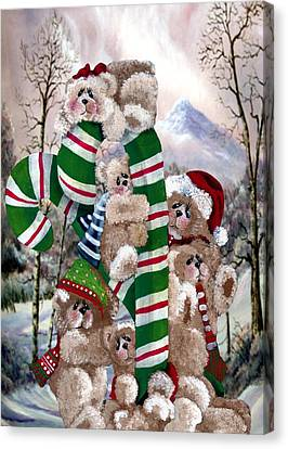 Santa's Little Helpers Canvas Print by Ron and Ronda Chambers