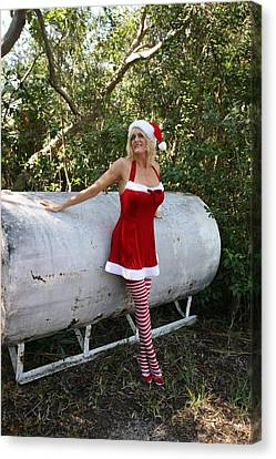 Santa's Naughty Lil' Helper 1345 Canvas Print