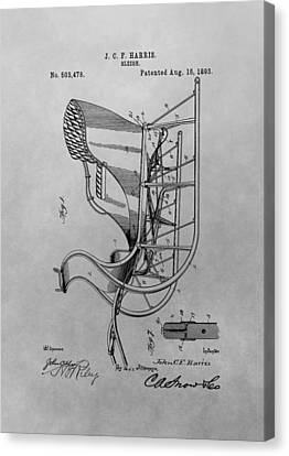 Slide Canvas Print - Santa's Sleigh Patent Drawing by Dan Sproul