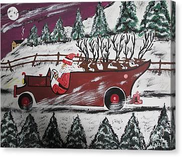 Santa's Truckload Canvas Print by Jeffrey Koss