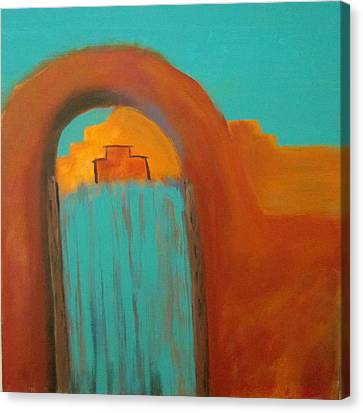 Canvas Print featuring the painting Sante Fe by Keith Thue