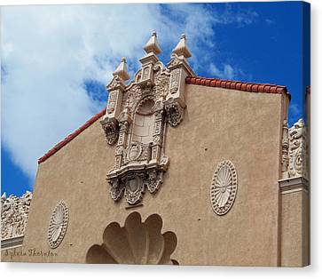 Canvas Print featuring the photograph Sante Fe Theatre by Sylvia Thornton