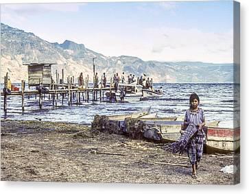 Santiago Atitlan Dock Canvas Print