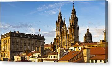 Canvas Print featuring the photograph Santiago De Compostela Cathedral Galicia Spain by Pablo Avanzini
