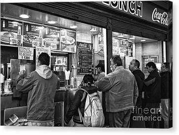 Santiago Lunch Mono Canvas Print