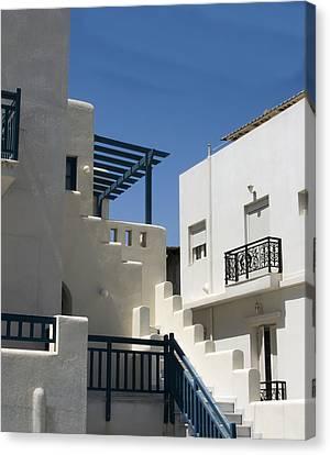 Santorini Apartments Canvas Print by Don McGillis