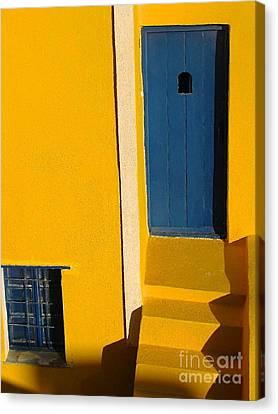 Santorini Doorway Canvas Print