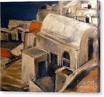 Cyclades Canvas Print - Santorini by Mona Edulesco