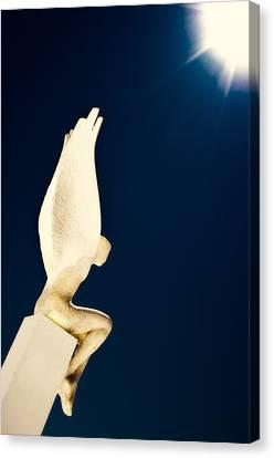 Canvas Print featuring the photograph Santorini Guardian by Meirion Matthias