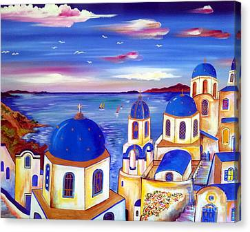 Santorini Is My Dream Canvas Print by Roberto Gagliardi