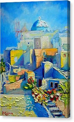 Santorini Light Canvas Print