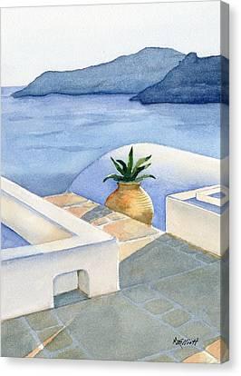 Santorini Canvas Print by Marsha Elliott