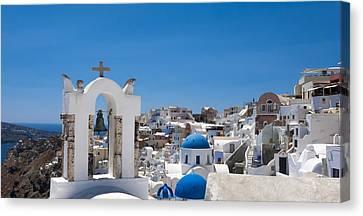 Santorini Mid-summer Day Canvas Print by Don McGillis