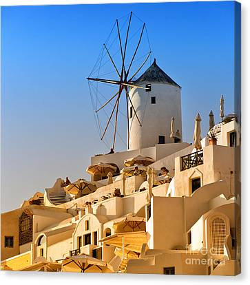 Santorini Windmill 05 Canvas Print