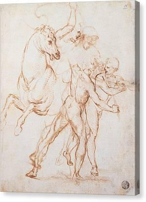Sanzio Raffaello, A Warrior Riding Canvas Print by Everett
