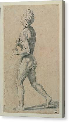 Sanzio Raffaello, Male Nude Walking Canvas Print by Everett