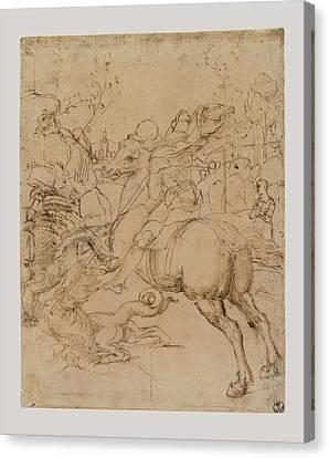 Sanzio Raffaello, St George Killing Canvas Print