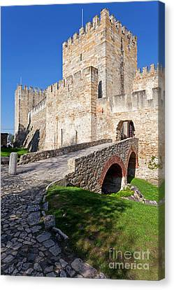 St George Canvas Print - Sao Jorge Castle In Lisbon by Jose Elias - Sofia Pereira