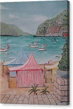 Sao Martinho Do Porto Canvas Print by Hilda and Jose Garrancho