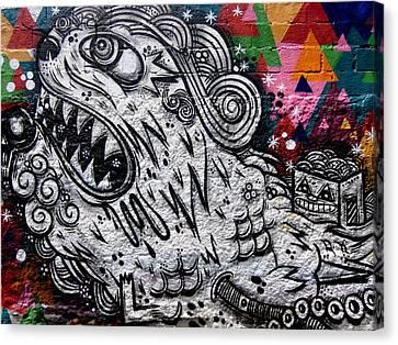 Sao Paulo Graffiti Vii Canvas Print by Julie Niemela