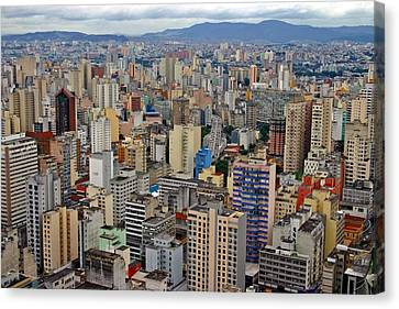 Canvas Print featuring the photograph Sao Paulo by Henry Kowalski