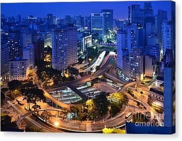 Sao Paulo Skyline - Downtown Canvas Print
