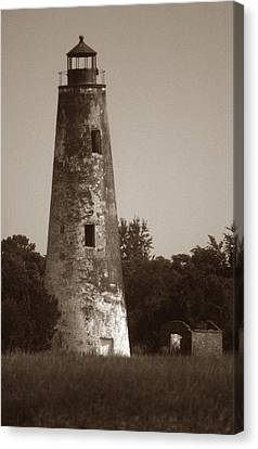 Sapelo Island Lighthouse Canvas Print by Skip Willits