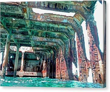 Sapona Wreck Canvas Print by Carey Chen